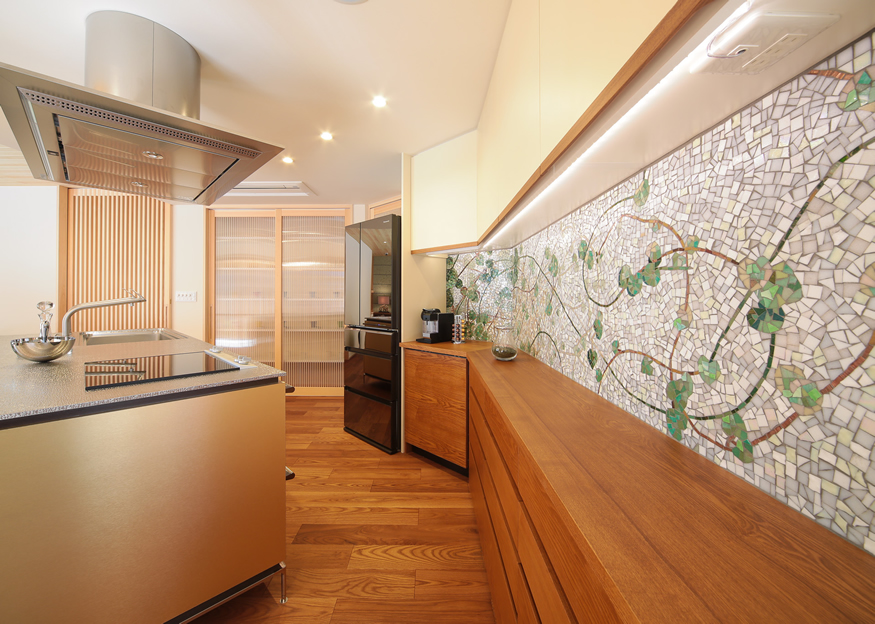 愛知県長久手市の住宅展示場・モデルハウスのキッチン