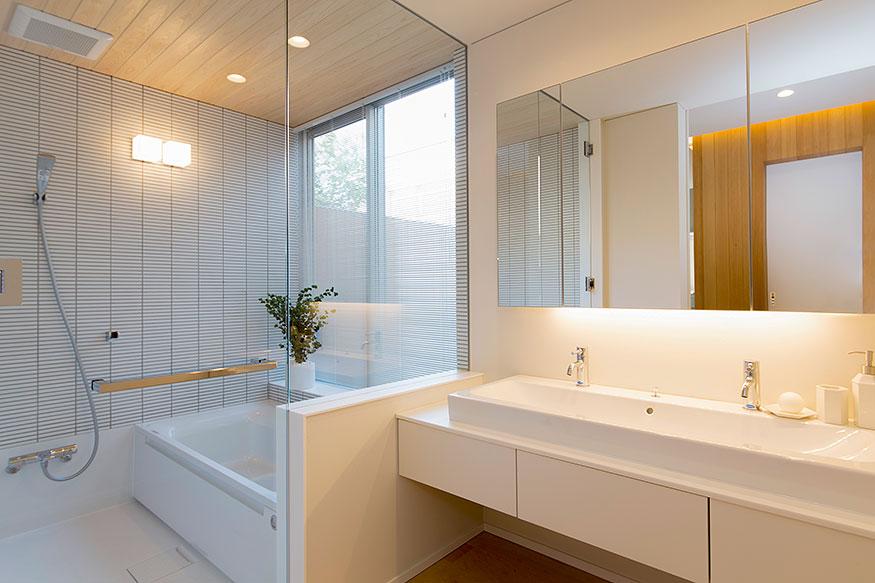 岐阜県可児市の住宅展示場・モデルハウスのバスルーム