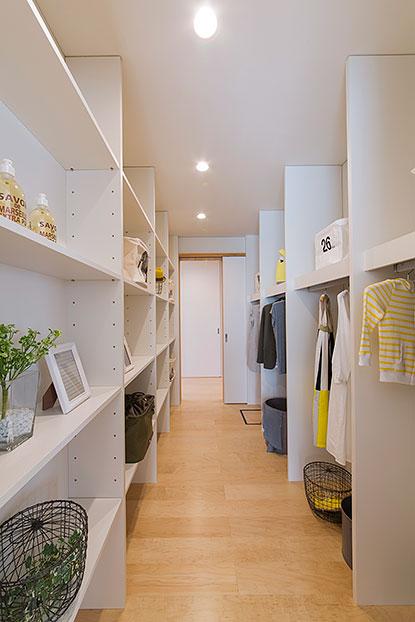 岐阜県可児市の住宅展示場・モデルハウスの収納スペース