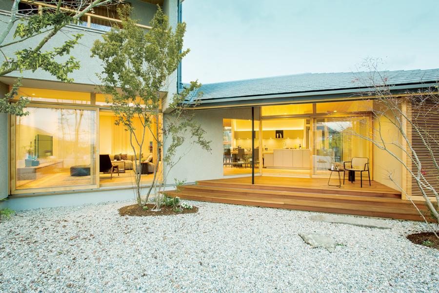 愛知県春日井市の住宅展示場・モデルハウスの庭園