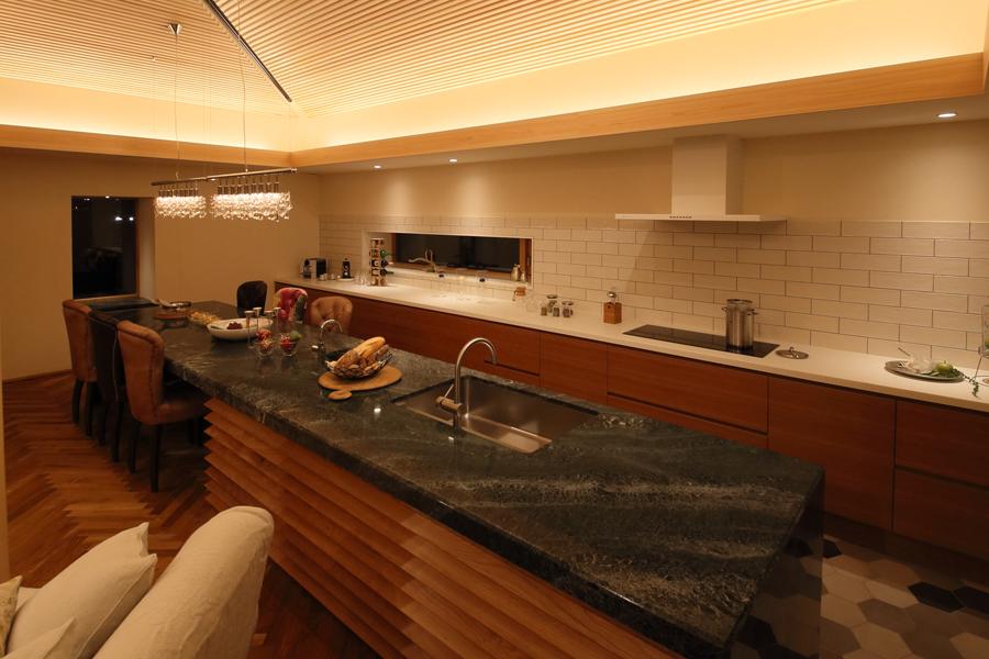 愛知県岡崎市の住宅展示場・モデルハウスのキッチン
