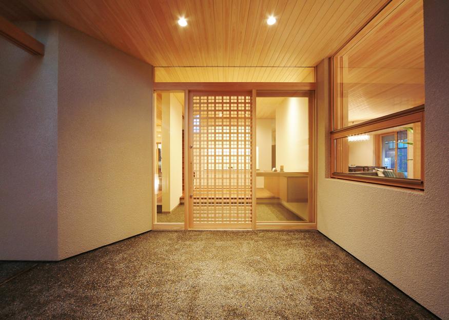愛知県長久手市の住宅展示場・モデルハウスの入口