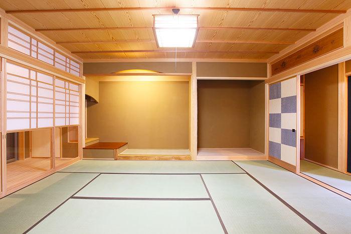 床の間も広く質感高い和室 愛知県春日井市の平屋 施行事例