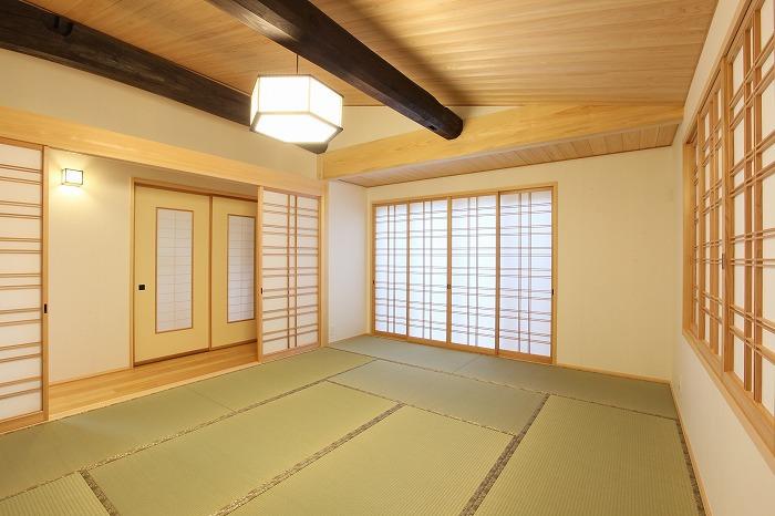 和室も広く清潔感溢れる 愛知県長久手市の平屋 施行事例