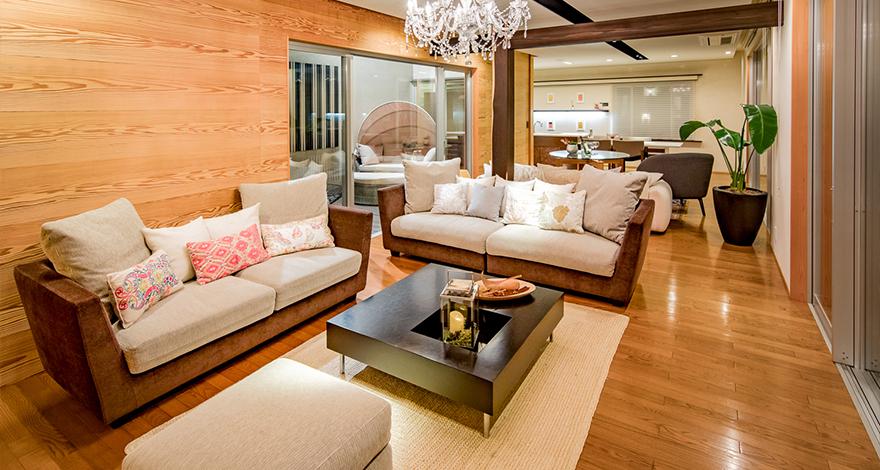 愛知県大府市の住宅展示場・モデルハウスのリビング