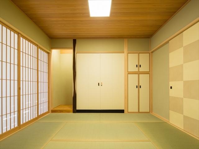 シンプルで落ち着いた空間の和室 愛知県春日井市の平屋 施行事例