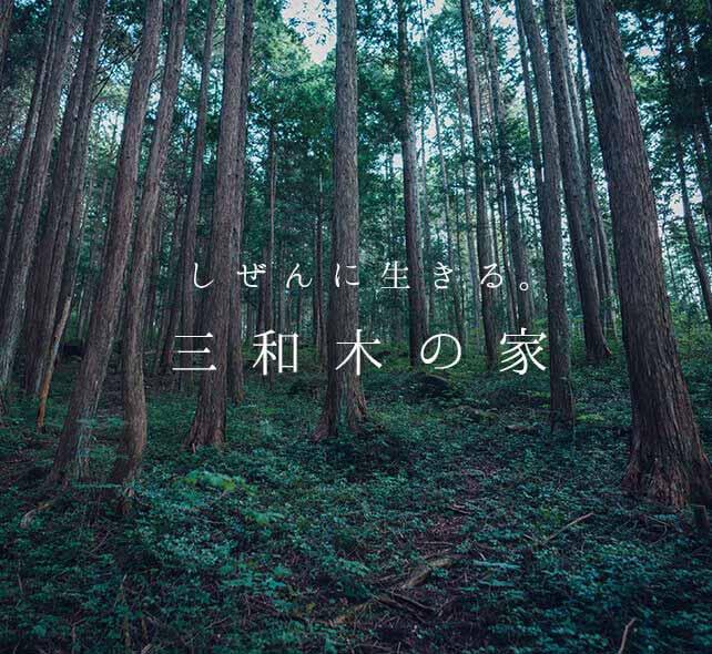 しぜんに生きる。三和木の注文住宅のルーツである、自社保有で育む山林の木々。
